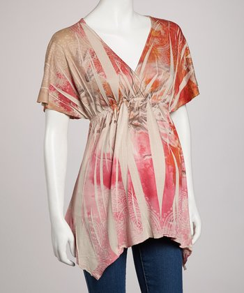 Stone Butterfly Sublimation Maternity Top - Women