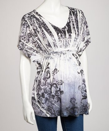 Blue Sublimation Maternity Top