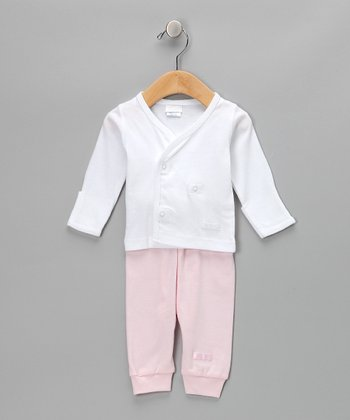 White & Pink Pajama Set - Infant