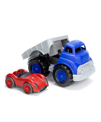 Blue & Red Recycled Flatbed Race Set