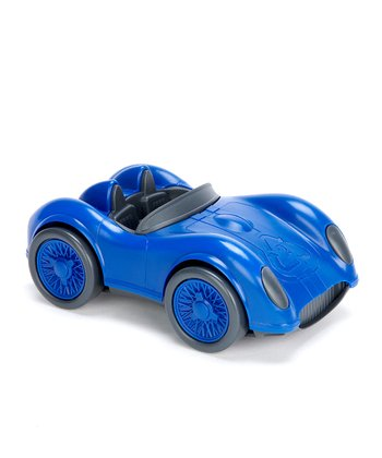 Blue Recycled Race Car