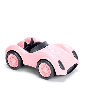Pink Recycled Race Car