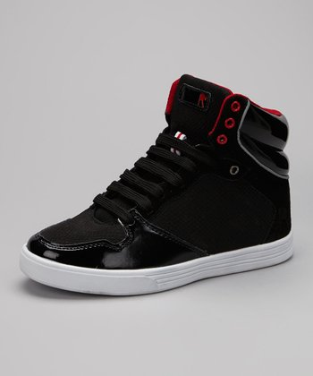 Black & Red Roc A Million Hi-Top Sneaker