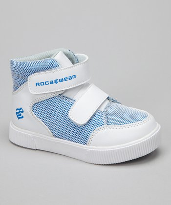 White & Blue Lunar Roc Hi-Top Sneaker