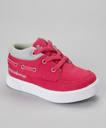 Pink & Gray Roc the Boat Sneaker - Kids
