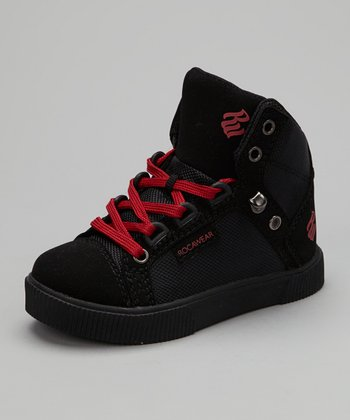 Black & Red City Roc Hi-Top Sneaker