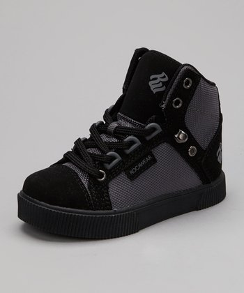 Black & Charcoal City Roc Hi Hi-Top Sneaker