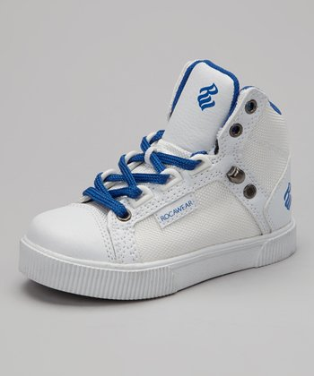 White & Royal City Roc Hi-Top Sneaker