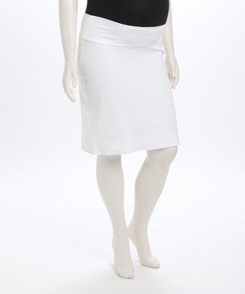 White Maternity Skirt