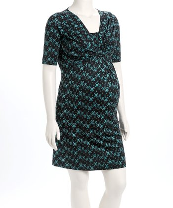 Blue & Green D&A Nursing Dress