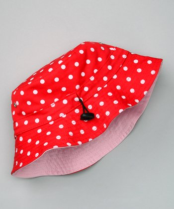 Red Polka Dot Bucket Hat