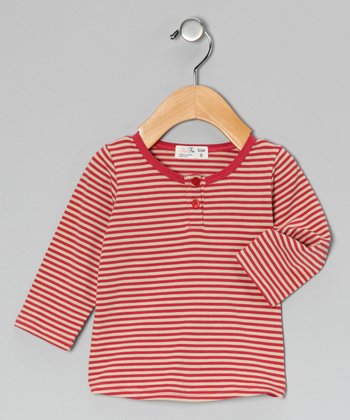 Rose & Oatmeal Henley - Infant, Toddler & Kids