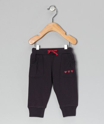 Charcoal Heart Sweatpants - Infant, Toddler & Girls