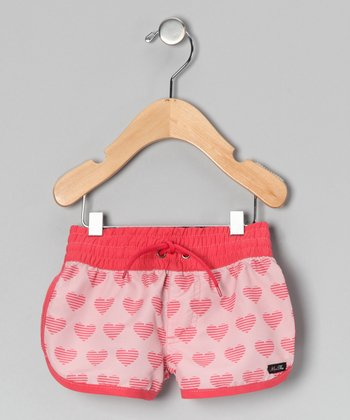 Pink Heart Shorts - Infant, Toddler & Girls