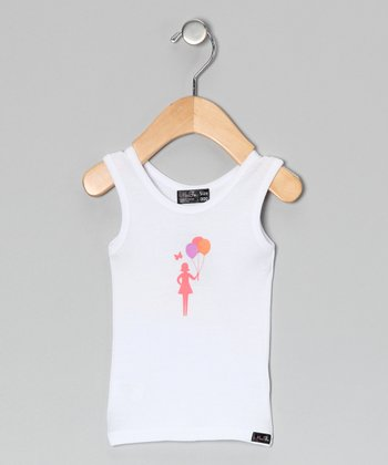 White Balloon Tank - Infant, Toddler & Girls