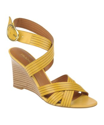 Yellow Kasia Wedge Sandal