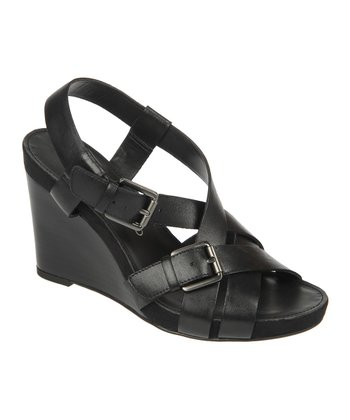 Black Hallie Wedge Sandal