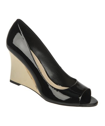 Black Patent Harper Wedge