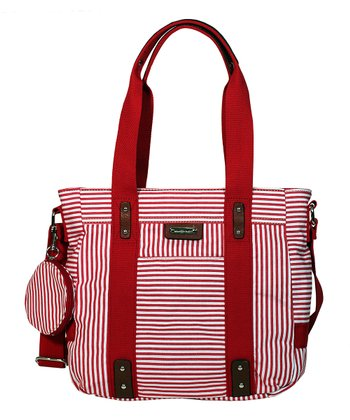Red Stripe Lexi Tote
