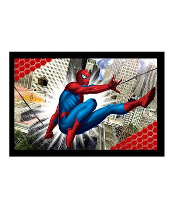 Spiderman City Lenticular Thin-Frame Wall Art