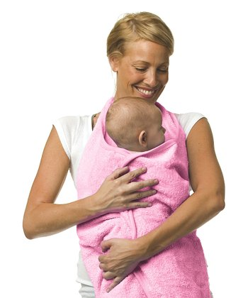 Pink Hands-Free Hooded Baby Towel