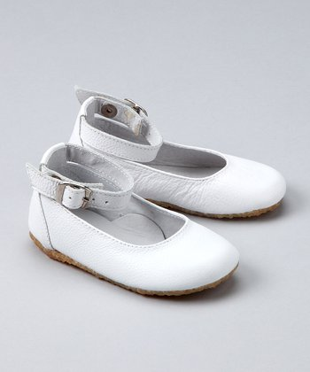 White Ankle-Strap Ballet Flat - Infant