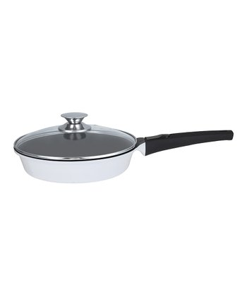 White Amovible 9.4'' Covered Frying Pan