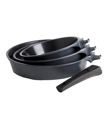 Black Nonstick Amovible Frying Pan Set
