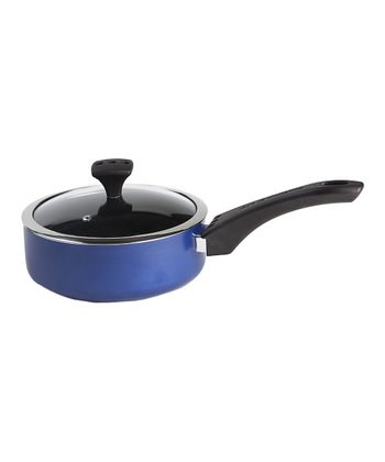 Blue Nonstick Diaz 2.4-Qt. Covered Saucepan