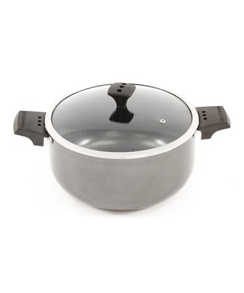 Gray Nonstick Diaz 3.4-Qt. Covered Pot
