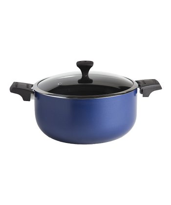Blue Nonstick Diaz 5.7-Qt. Covered Pot