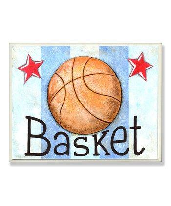 'Basket' Stripe Wall Art