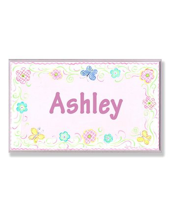 Stupell Butterflies Personalized Wall Art