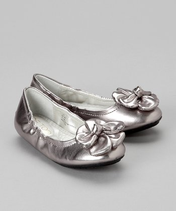 Pewter Belinda Ballet Flat - Toddler & Girls