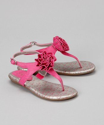 Magenta Kori Flower Sandal - Toddler & Girls