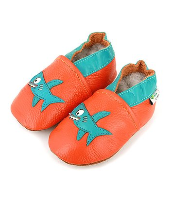 Orange & Turquoise Shark Booties