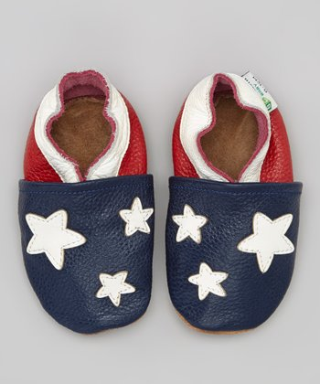 Blue & Red Star Booties