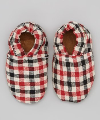 Red & Blue Gingham Booties