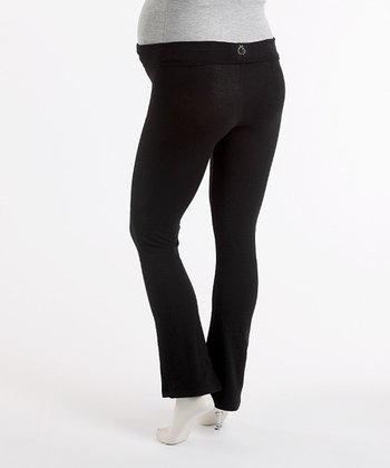 Black Maternity Yoga Pants