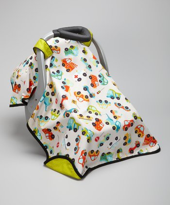 Gray Cars Car Seat Canopy