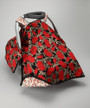 Black & Red Serenity Car Seat Canopy