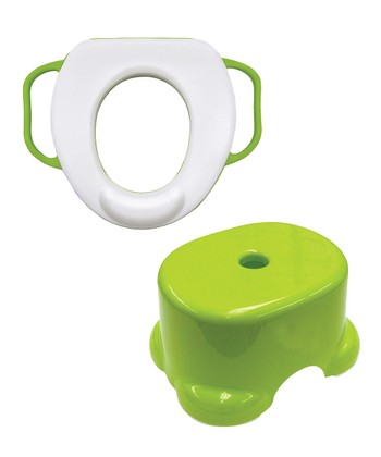 Green Soft Potty Seat & Step Stool