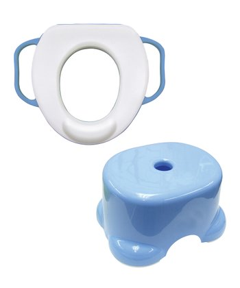 Blue Soft Potty Seat & Step Stool