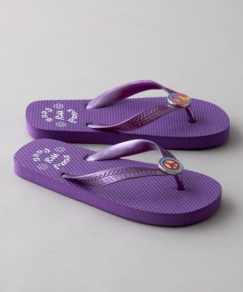 Purple Lily Flip-Flop - Toddler & Girls