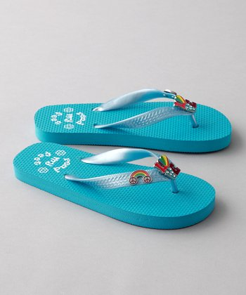 Turquoise Riley Flip-Flop - Toddler & Girls