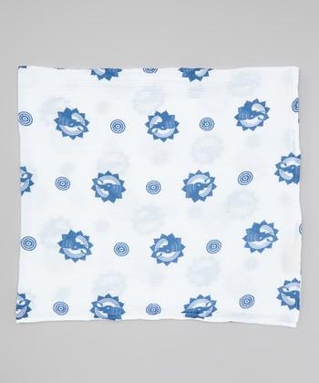 Blue Elephant Organic Swaddling Blanket