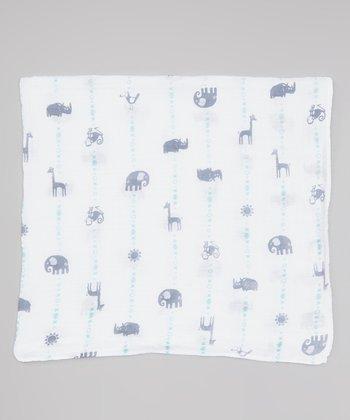 Blue Zoo Organic Swaddling Blanket