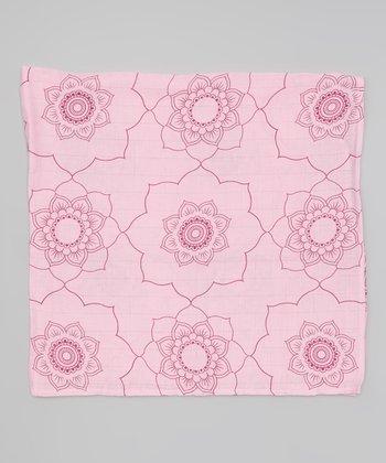 Pink Mandala Organic Swaddling Blanket