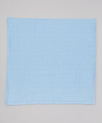 Sky Blue Organic Swaddling Blanket