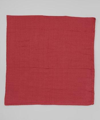 Terra-Cotta Organic Swaddling Blanket
